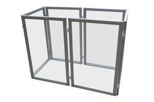 Kittenren / puppyren plexiglas paneel in aluminium
