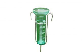 Regenmeter met metalen steel