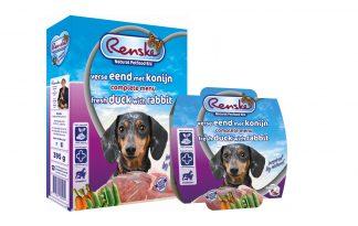 Renske Eend en Konijn complete vers vlees voeding
