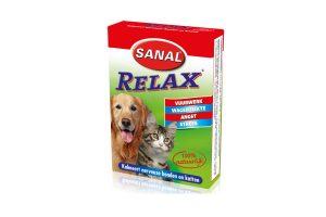 Sanal Relax kalmeert nerveuze honden en katten tijdens stressvolle situaties.