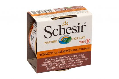 Schesir kat Tonijn met zalm in saus