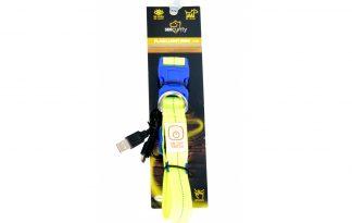 Duvo Seecurity halsband nylon led licht USB, S, M, L