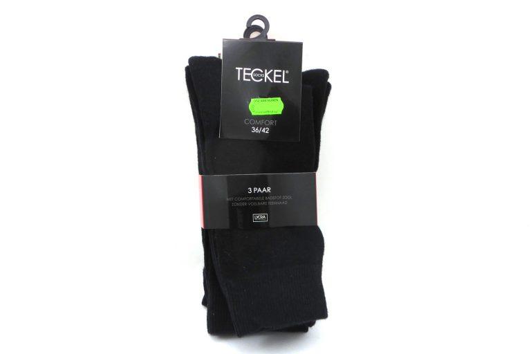 Teckel Comfort sok badstof voetzool - 3 paar