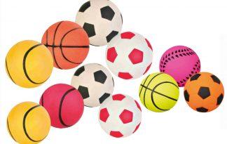 Trixie schuimrubber speelbal voetbal zwart