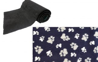 Vetbed op rol - donkerblauw met poot - anti-slip