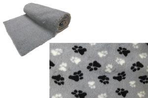Vetbed op rol - grijs met poot - anti-slip
