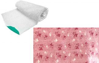Vetbed op rol - roze met poot - anti-slip