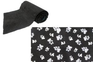 Vetbed op rol - zwart met poot - anti-slip