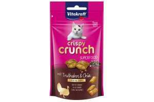 Vitakraft Crispy Crunch Superfood chiazaad en kalkoen