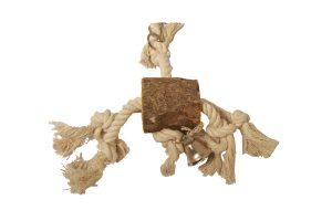 Vogelspeelgoed touw met hout breed