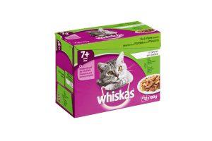 Whiskas 7+ vlees & visselectie in gelei