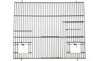 Zwarte voorfronten 40 cm hoog met klepjes, deur en nestkastdeur